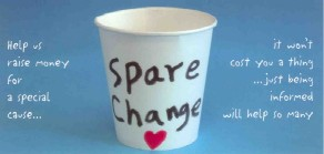 spare change postcard