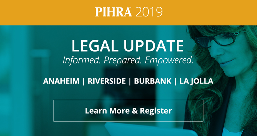 PIHRA 2019 Legal Update Preview Pricing Ends Tomorrow